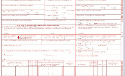 1500 Health Insurance Claim Form Sample