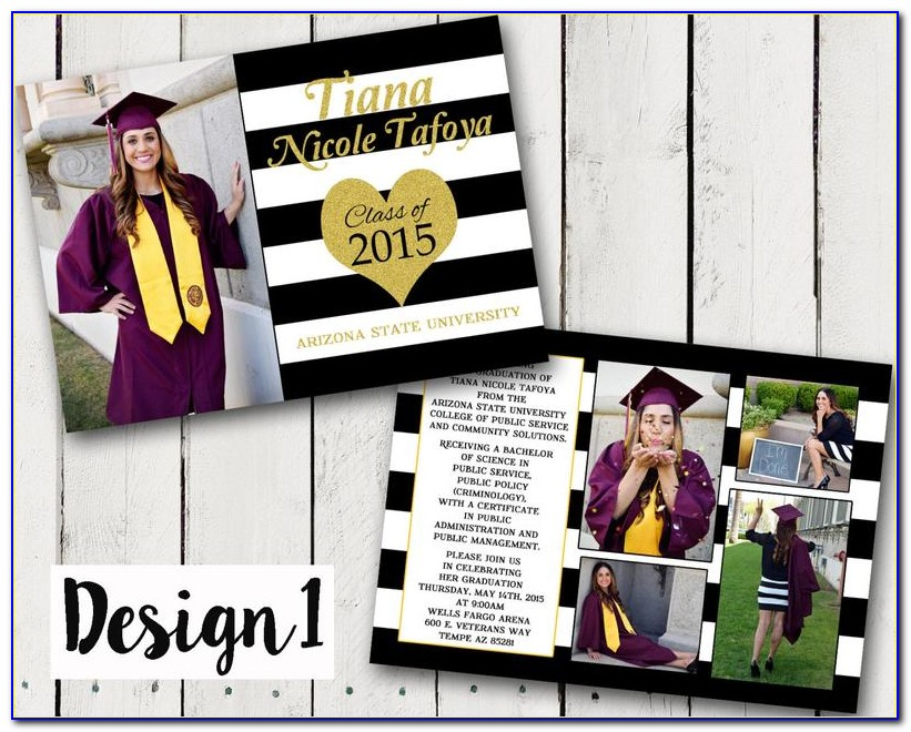 2 Sided Graduation Announcements