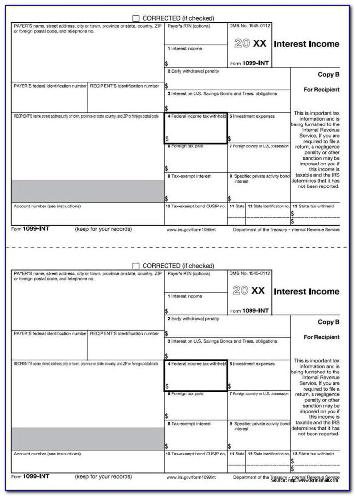 2014 Form 1099 Misc Template Word