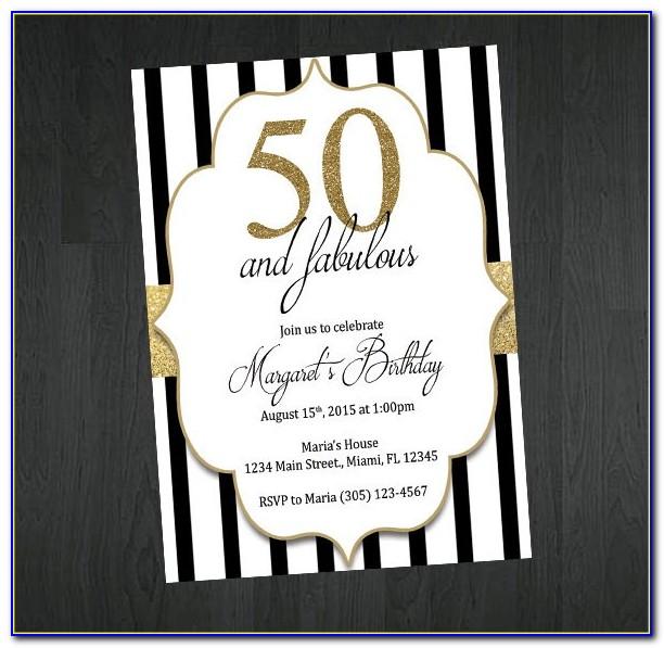 50th Anniversary Invitation Wording Samples