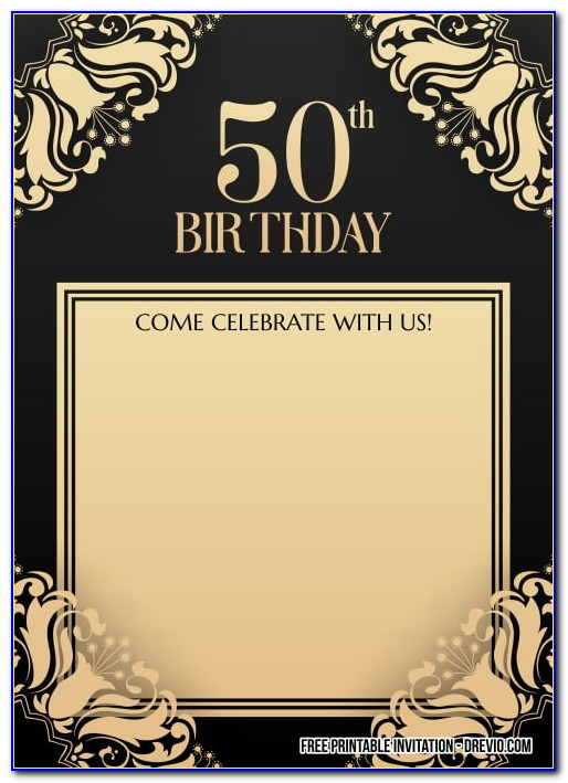 50th Birthday Invitation Templates For Him