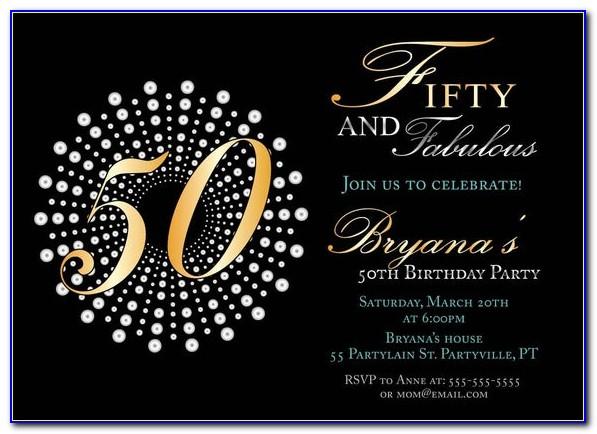 50th Birthday Invite Templates