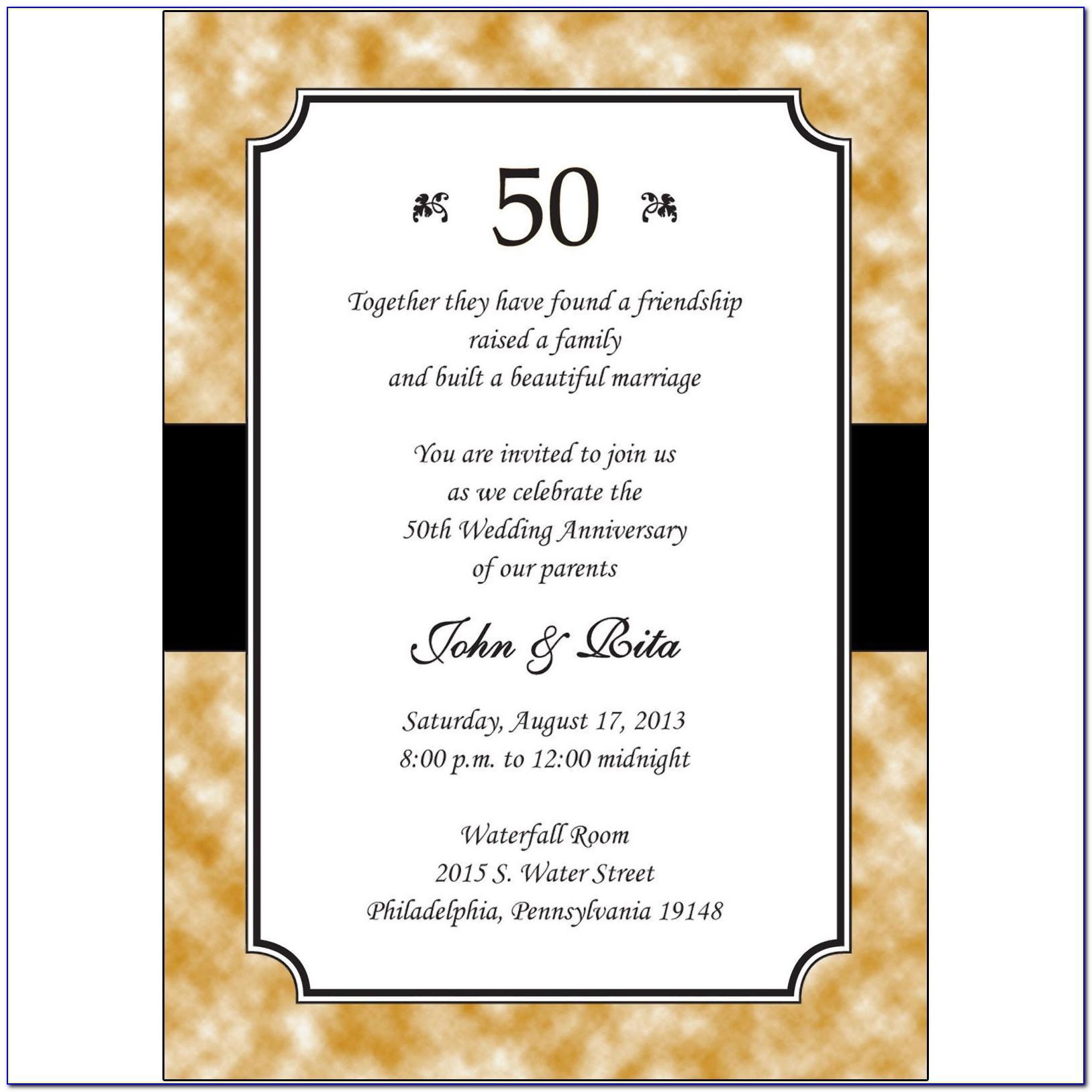 50th Birthday Programme Template