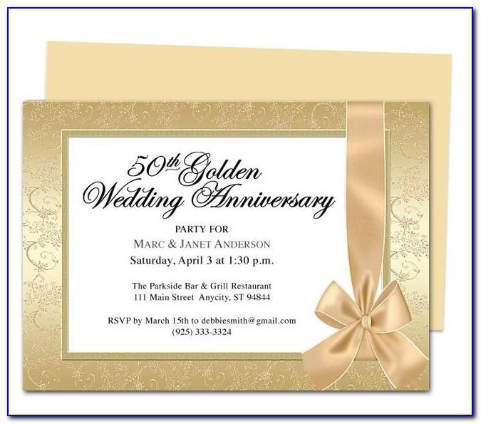 50th Wedding Anniversary Certificate Template