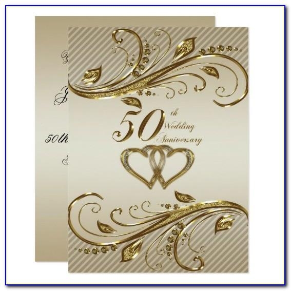 50th Wedding Anniversary Invitation Cards