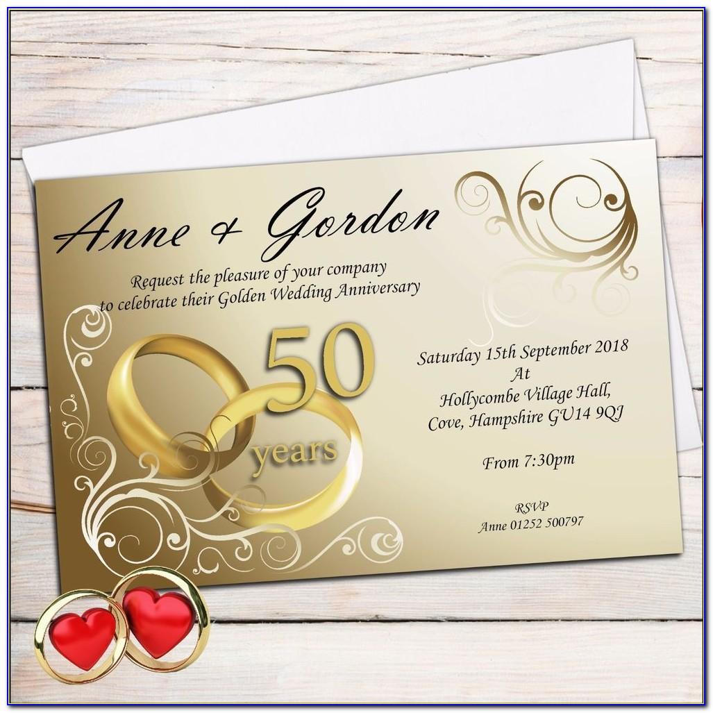 50th Wedding Anniversary Invitation Maker