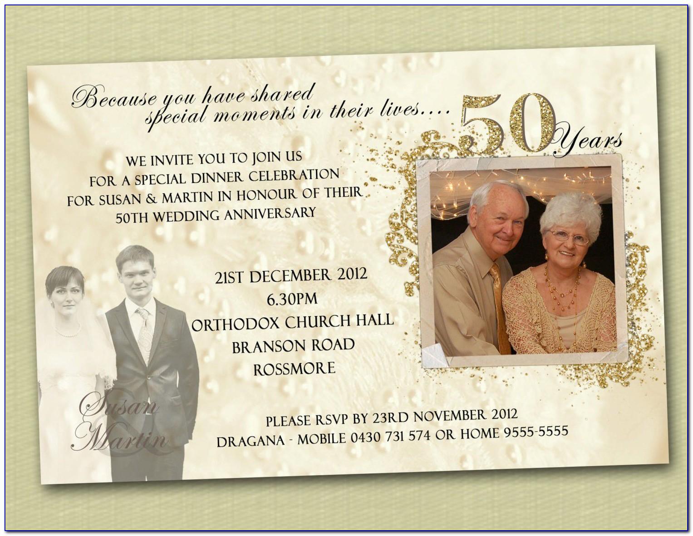 50th Wedding Anniversary Invitation Wording Samples