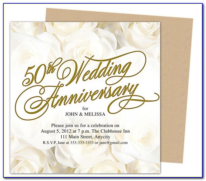 50th Wedding Anniversary Powerpoint Template Free