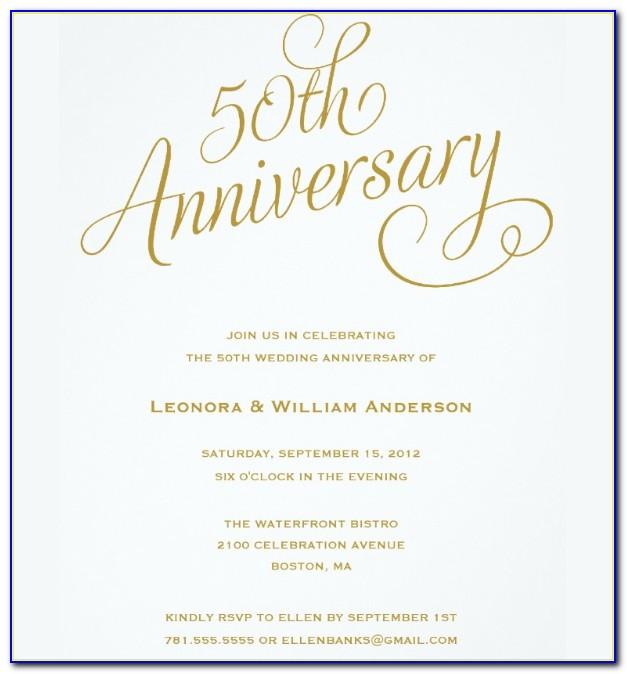 50th Wedding Anniversary Template Word