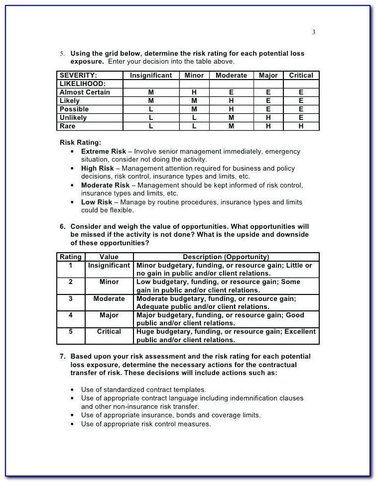 Ach Risk Assessment Form