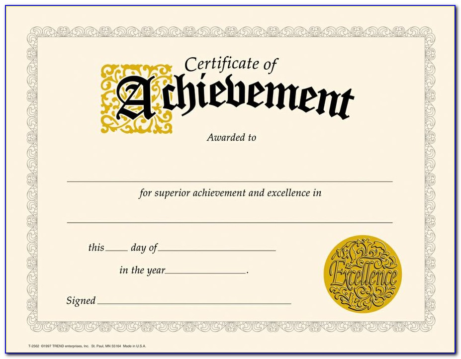 Achievement Awards Certificates Templates