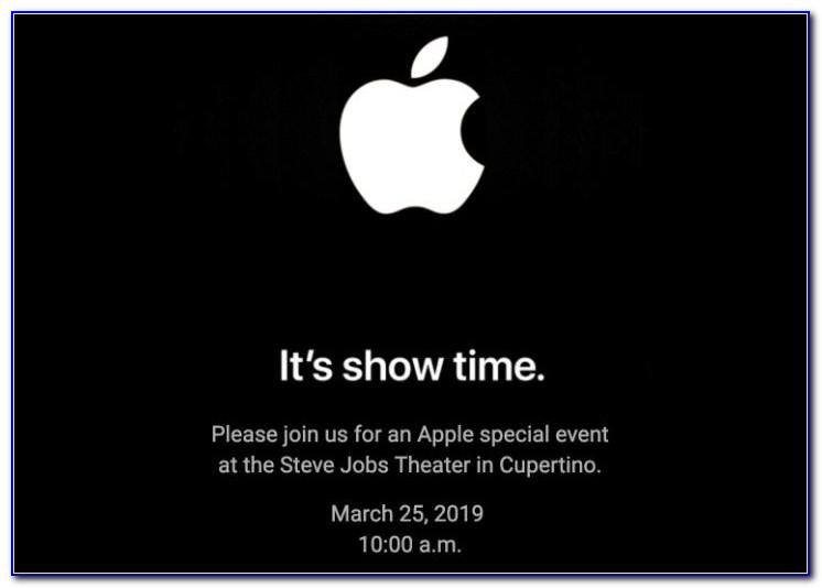 Apple Announcement Date September 2019