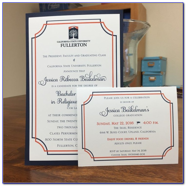 Cal State Fullerton Graduation Announcements