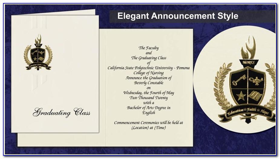 Cal State Long Beach Graduation Announcements