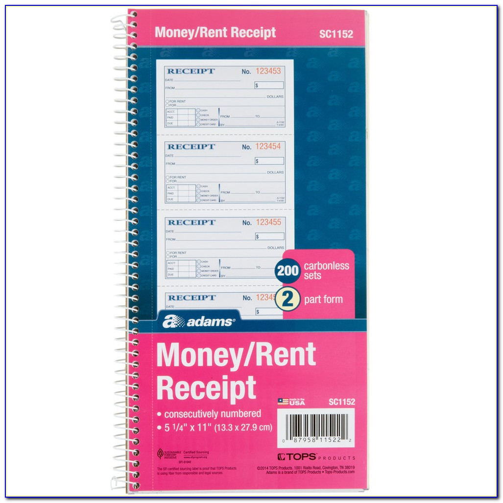 Carbonless Receipt Book For Sale