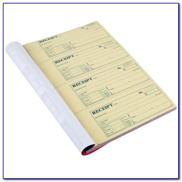 Carbonless Receipt Book Officemax