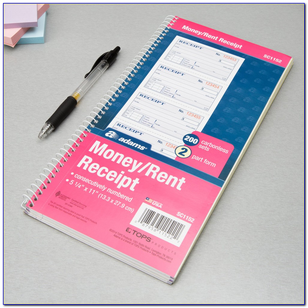 Carbonless Receipt Book Printing