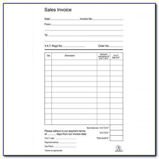 Custom Duplicate Invoice Books