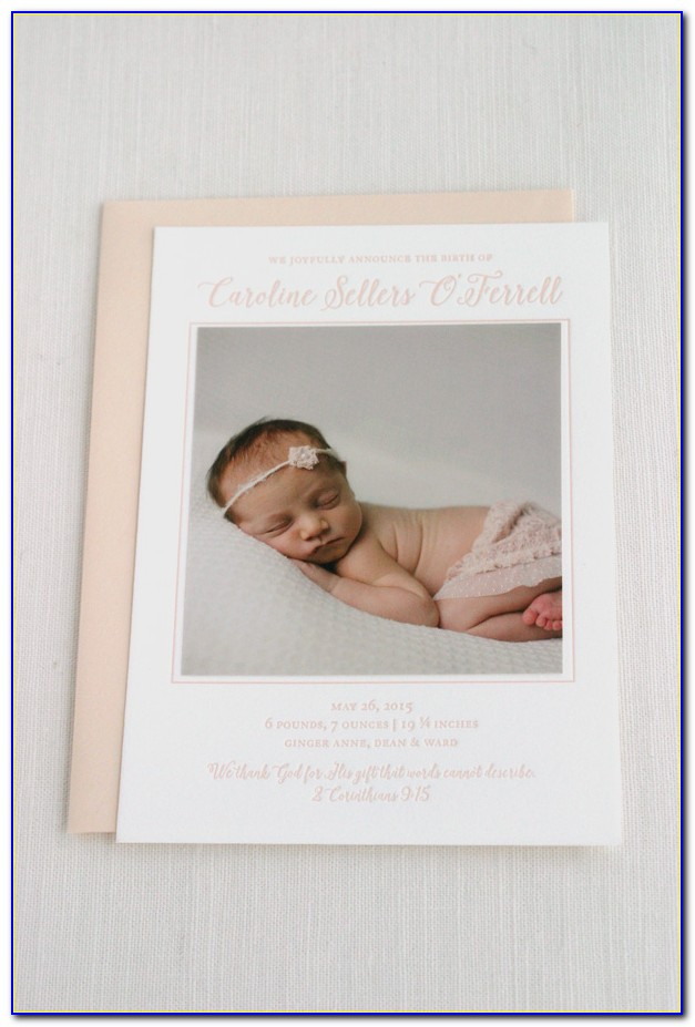 Custom Letterpress Birth Announcements