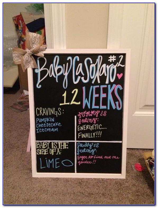 Diy Chalkboard Pregnancy Announcement