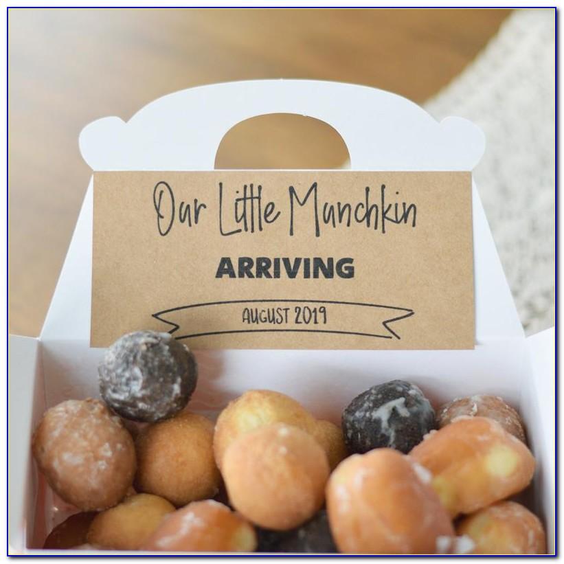 Donut Box Pregnancy Announcement