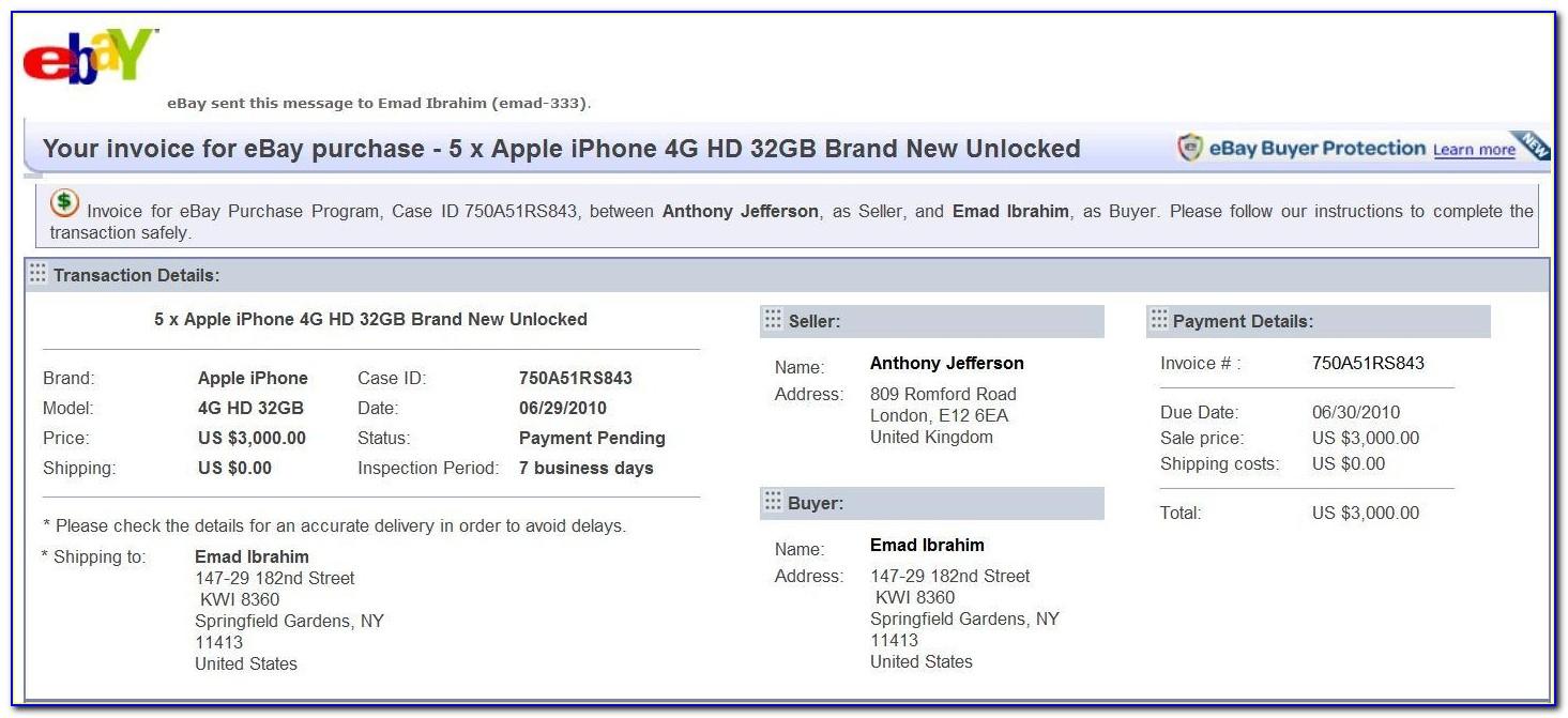 Ebay Send Invoice App