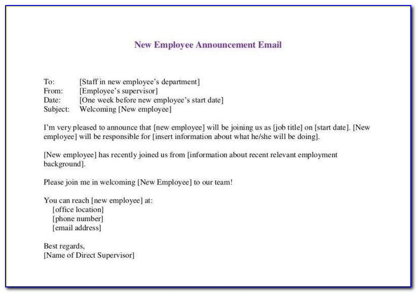 Employee New Baby Announcement Email Funny