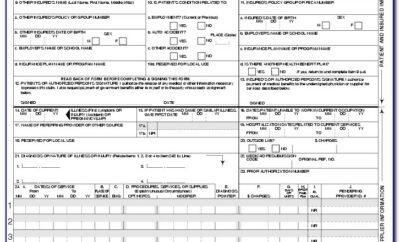 Health Insurance Claim Form 1500 Sample