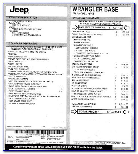 Jeep Jl Invoice Pricing