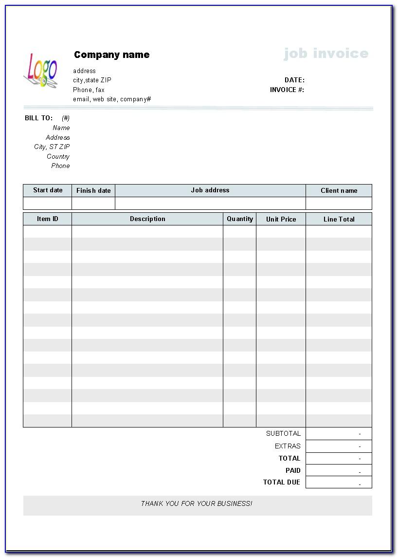 Labor Invoice Example