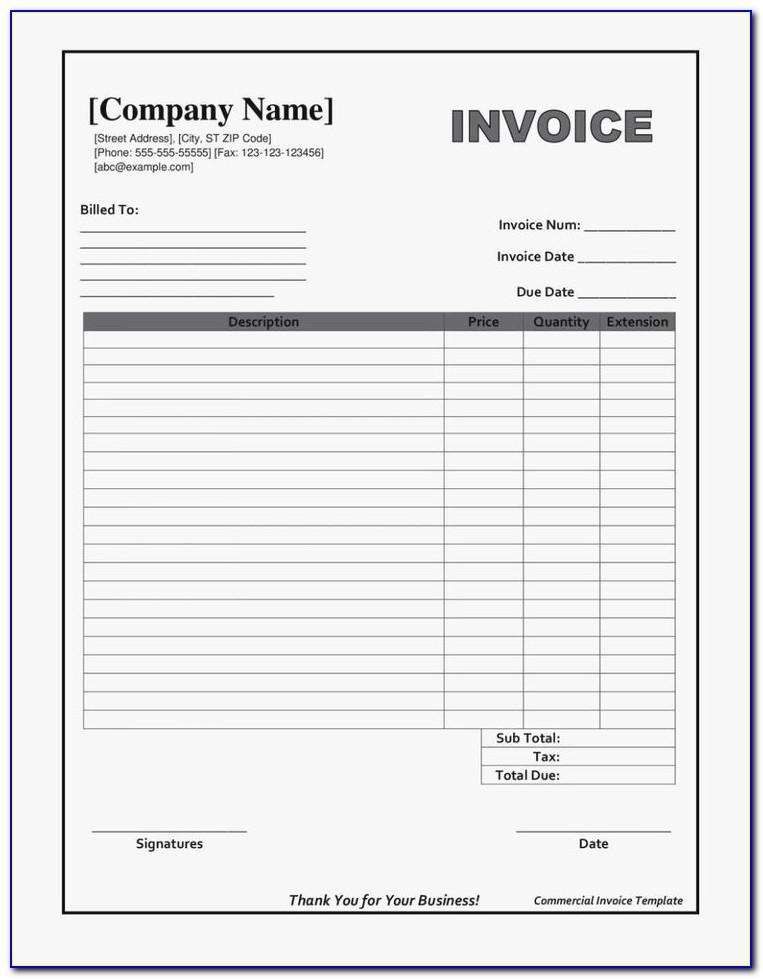 Labor Invoice Template Pdf