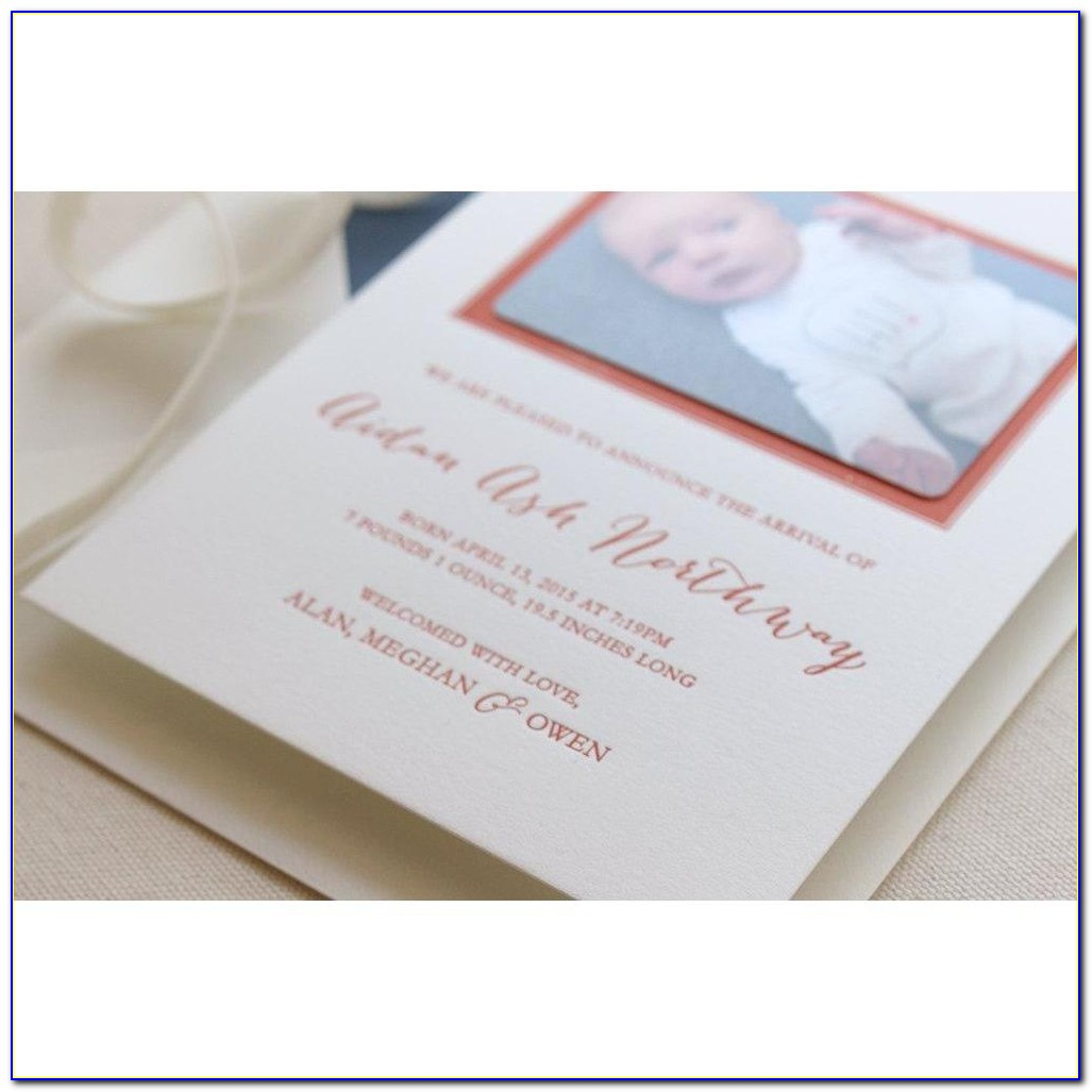 Letterpress Print Birth Announcement