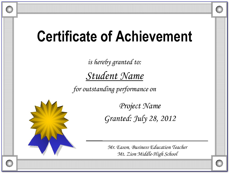 Lifetime Achievement Award Certificate Template