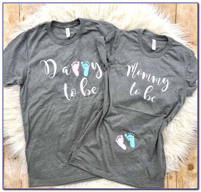 Mom And Dad Announcement Shirts