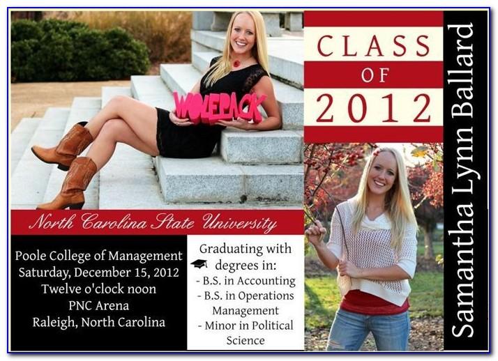 Nc State University Graduation Announcements