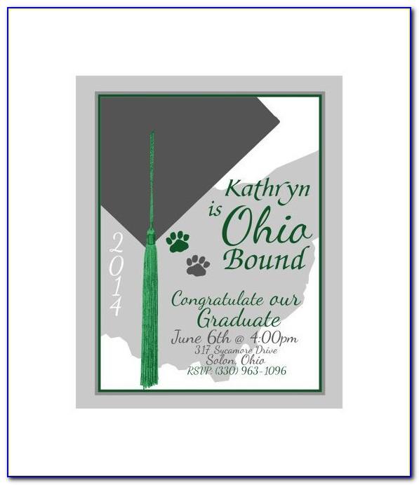Ohio State University Graduation Announcements