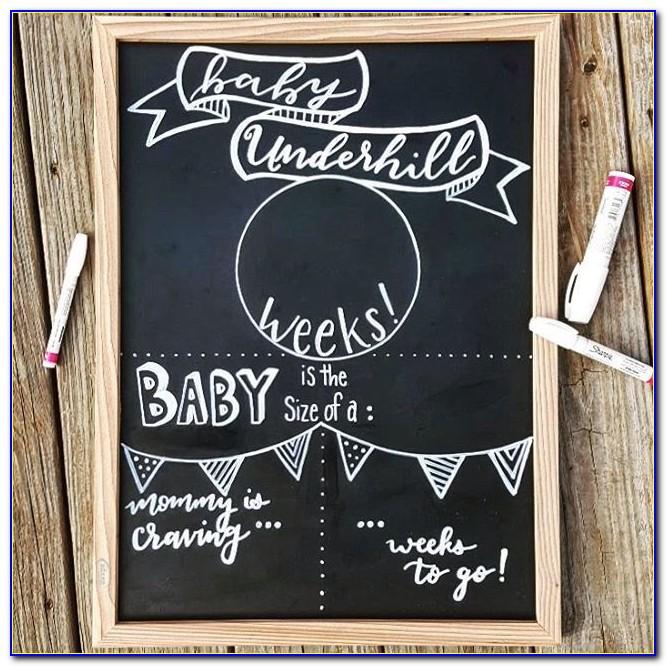 Pregnancy Announcement Chalkboard Uk