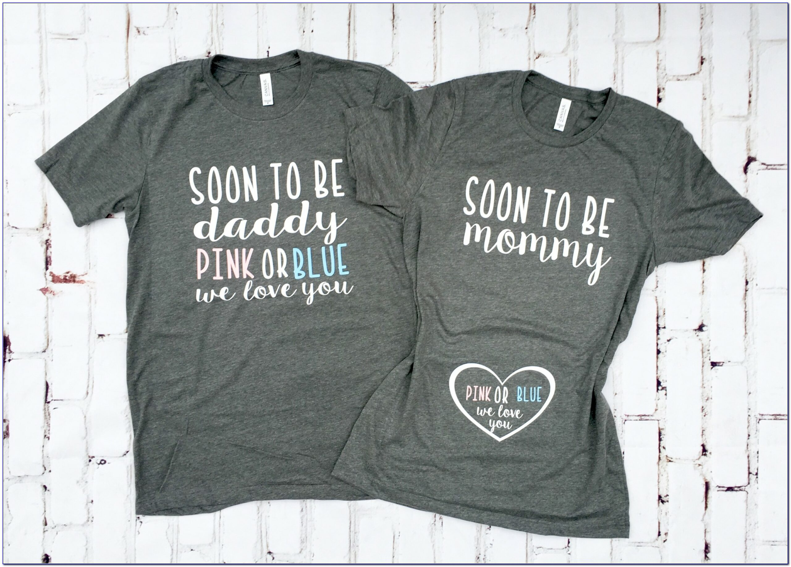 Pregnancy Announcement Shirts For Mom And Dad