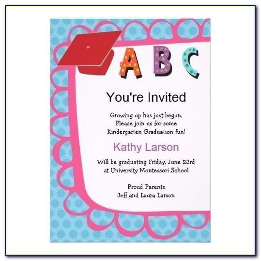 Preschool Graduation Invitation To Parents