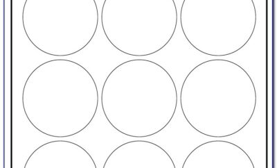 Round Label Template 12