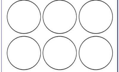 Round Label Template 12 Per Sheet