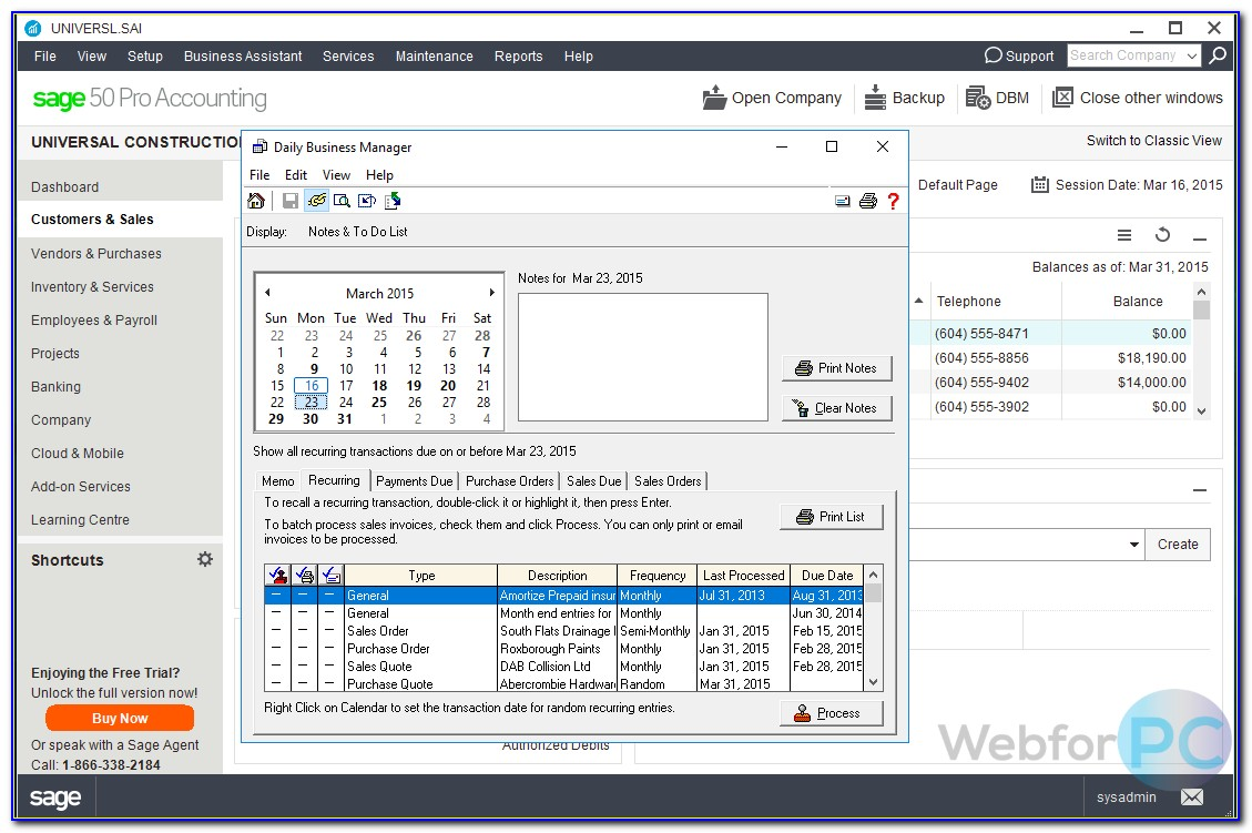 Sage 50 Invoicing App