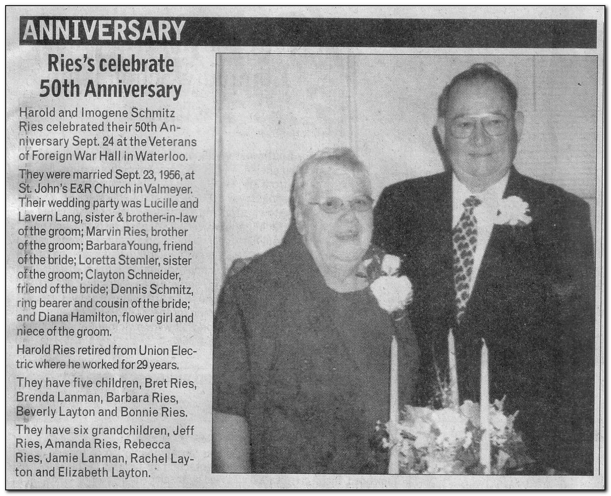 Sample 50th Wedding Anniversary Announcement For Newspaper