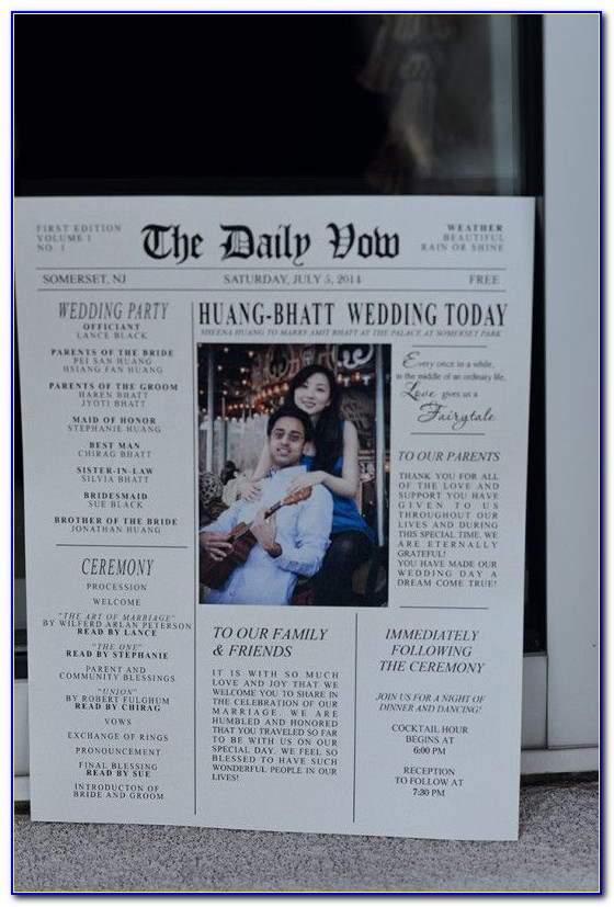 Sample Wedding Announcement Wording For Newspaper
