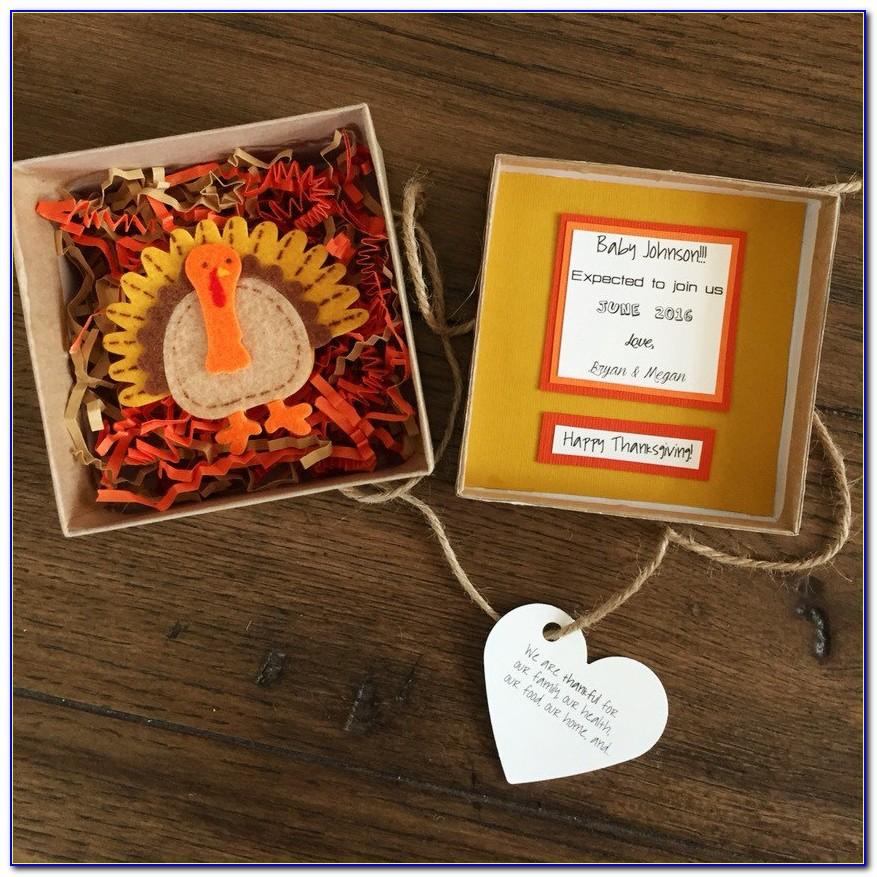 Thanksgiving Pregnancy Announcement Ideas