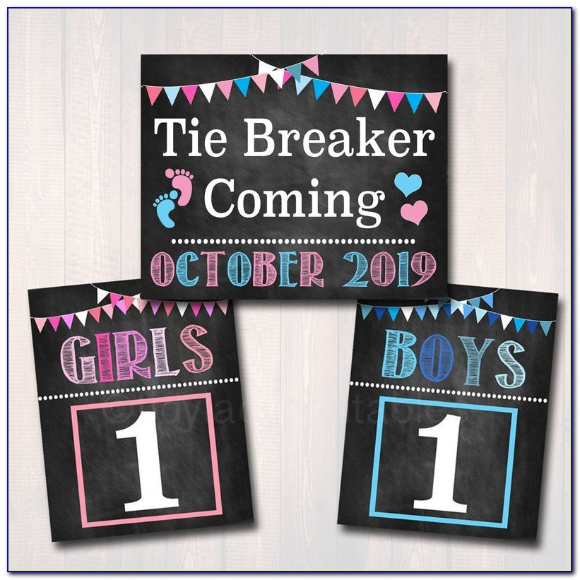 Tie Breaker Pregnancy Announcement Shirt
