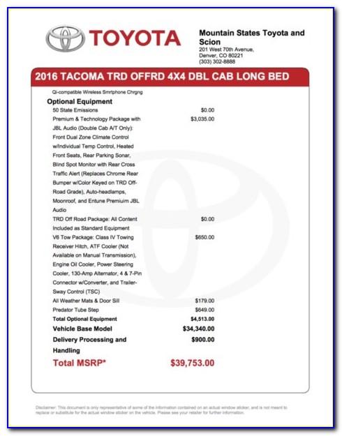 Toyota Corolla Invoice Price 2018