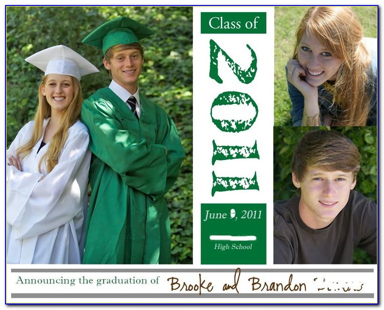 Twin Graduation Photo Announcements