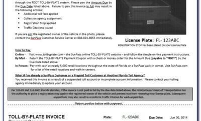 Unpaid Citylink Toll Invoices