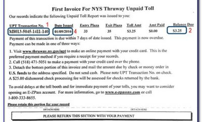 Unpaid Toll Invoice